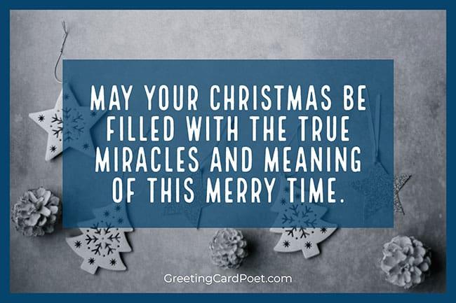 True miracles of the season