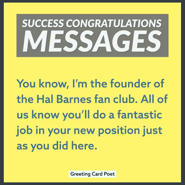 Success Congratulations Messages