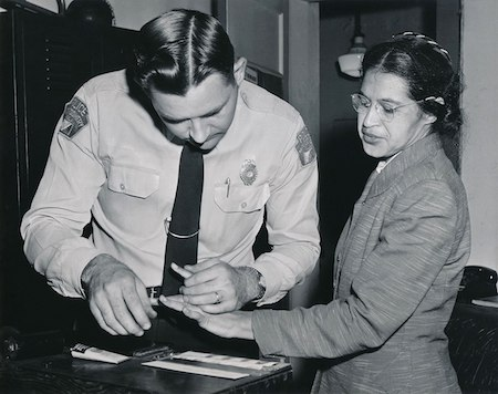 Rosa being process after her arrest