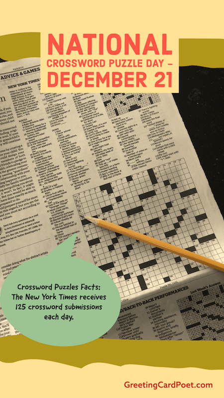 Crossword Puzzle Fun Facts