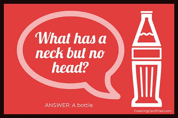 What has a neck but no head - funny riddles