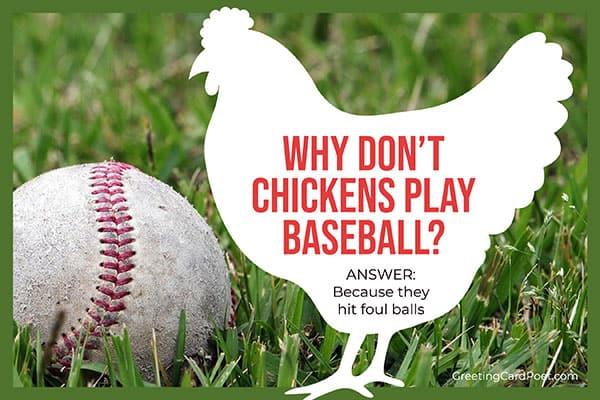 chicken play baseball - funny riddles