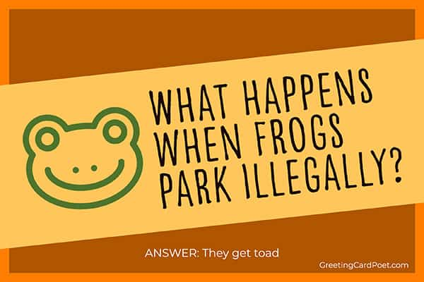 frogs parking illegally - funny riddles
