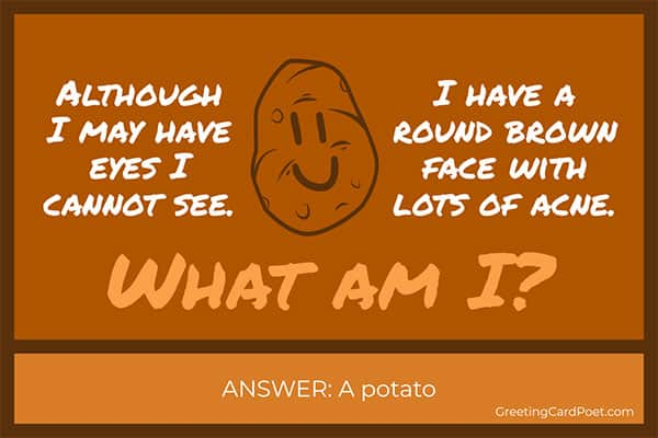 Potato riddle meme