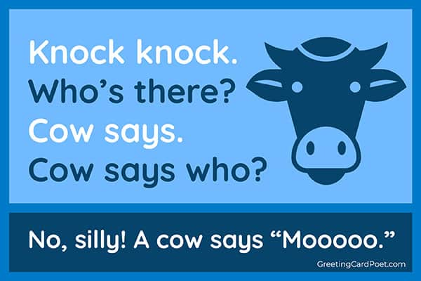 Cow Says - knock knock jokes