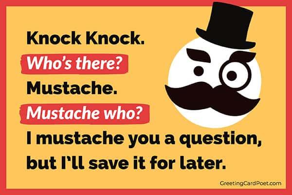 Mustache humor meme