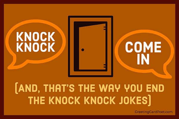 Come In - knock knock jokes meme