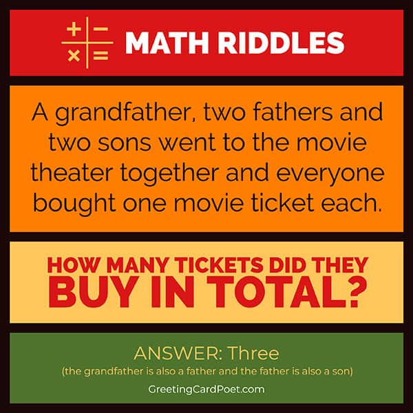 The grandfather challenge - math riddles