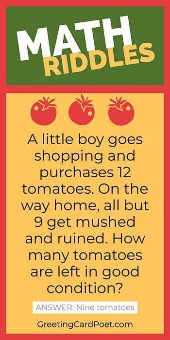Little boy and tomatoes - Math riddles