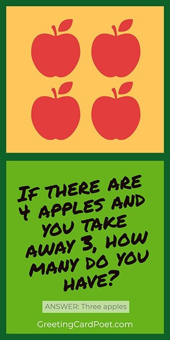 The four apples math riddle