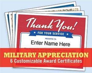 military service appreciation templates