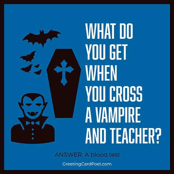 Vampire and teacher joke