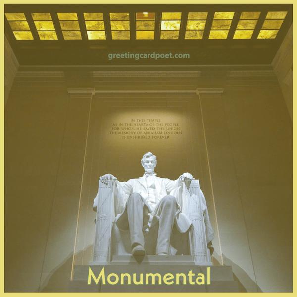 Monumental Instagram captions
