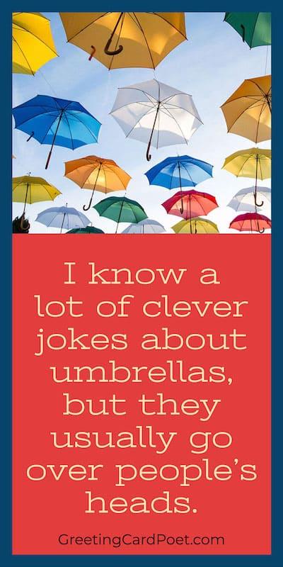 Umbrella quotes, captions, jokes