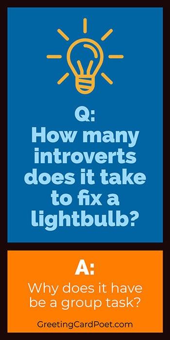 Introvert jokes and puns