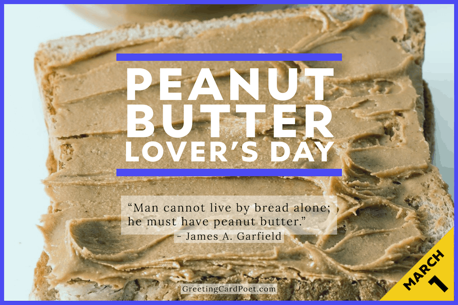 Peanut butter lover's day