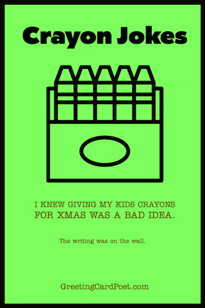 good crayon joke meme