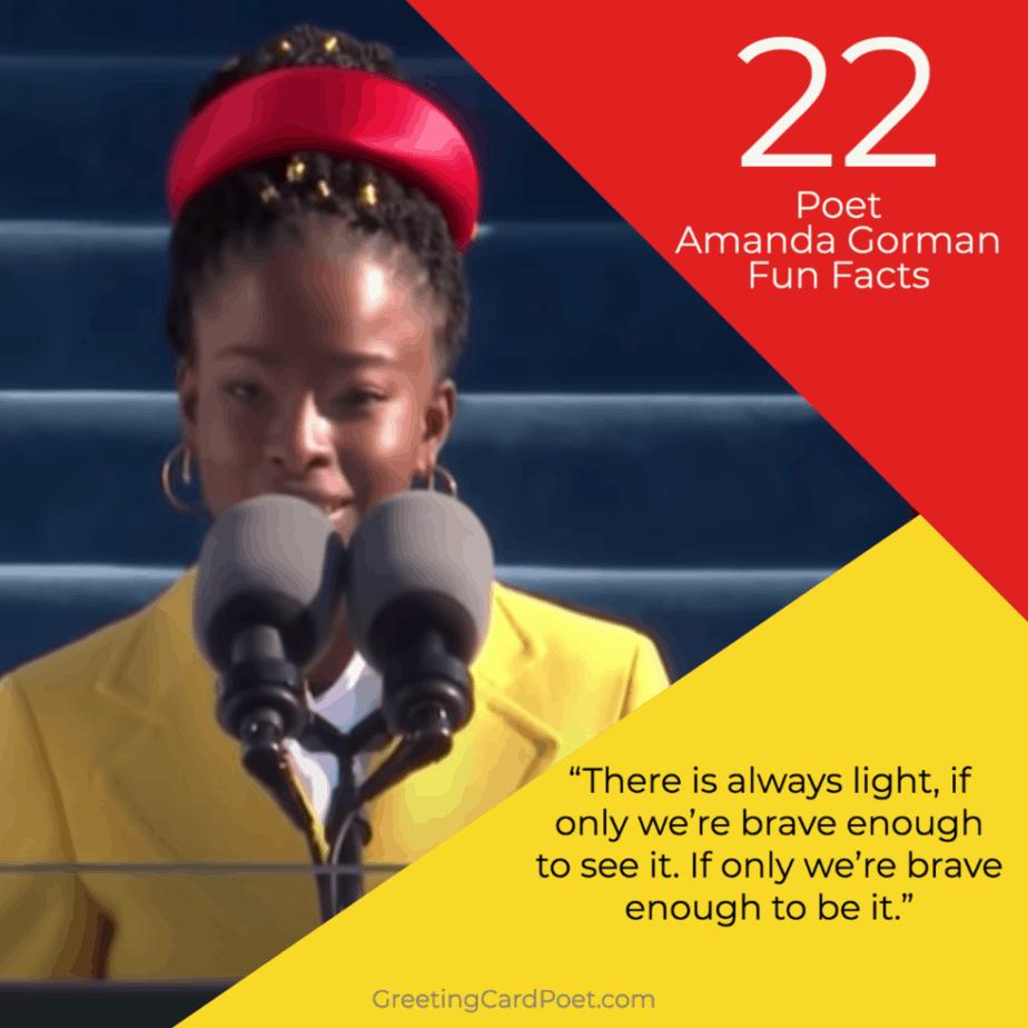 Poet Amanda Gorman Fun Facts