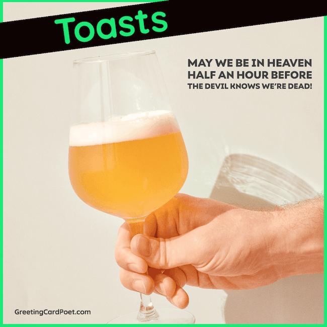 Funny drinking toasts
