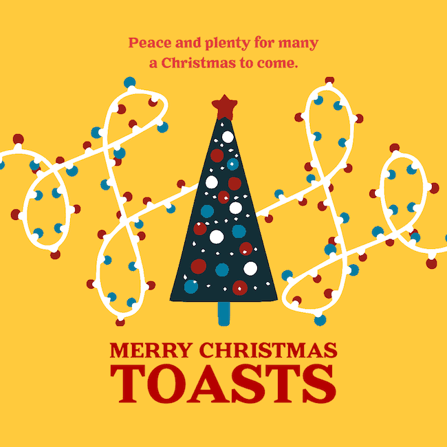 Christmas toasts