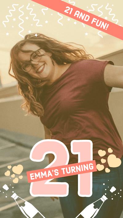 Turning 21 Birthday Captions