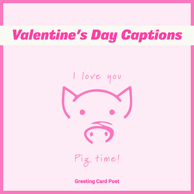 Valentine's Day Captions - I love you pig time