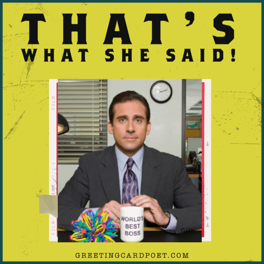 That's What She Said - The Office Meme