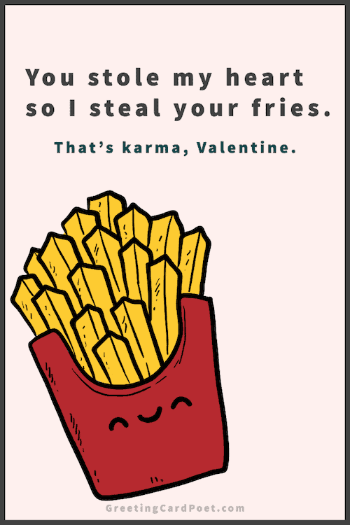 Best Valentine's Day Captions - French Fries