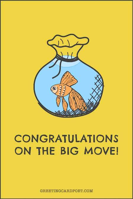 Congratulations on the big move