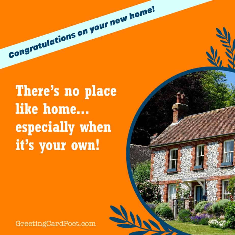 Congratulations on new home messages