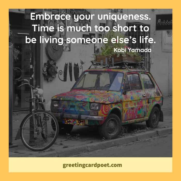Embrace your uniqueness meme