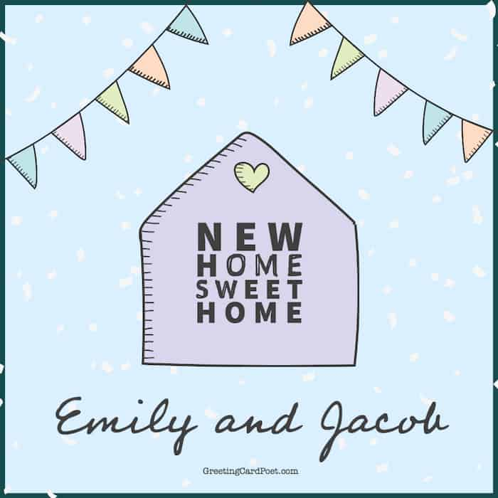 New home, sweet home