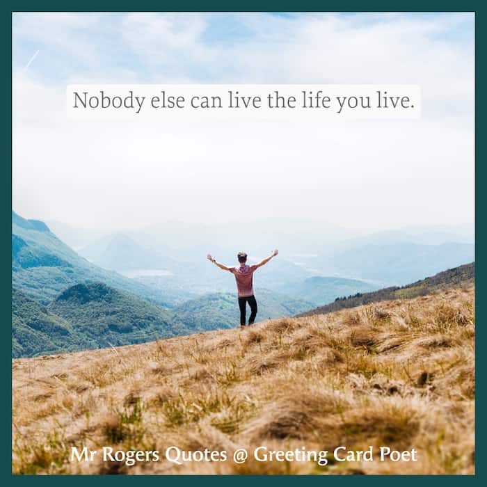 Nobody else can live the life you live meme