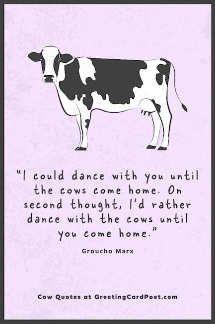 Groucho Marx on dancing