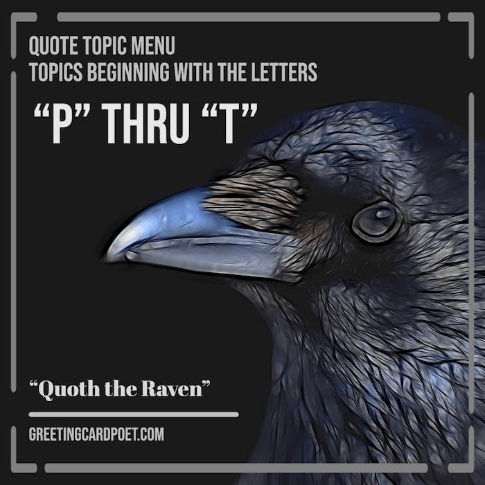 Quote Topics P thru T