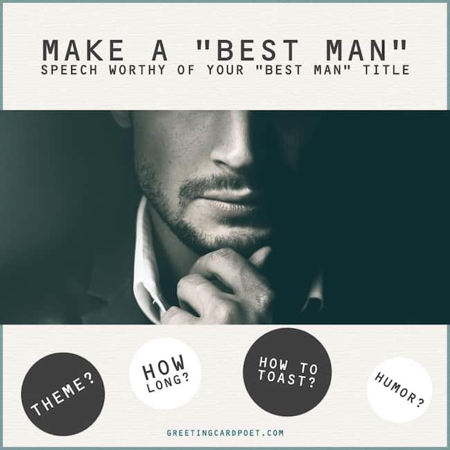 A Best Man speech worthy of your best man title