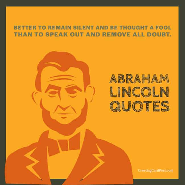 Best Abraham Lincoln Sayings