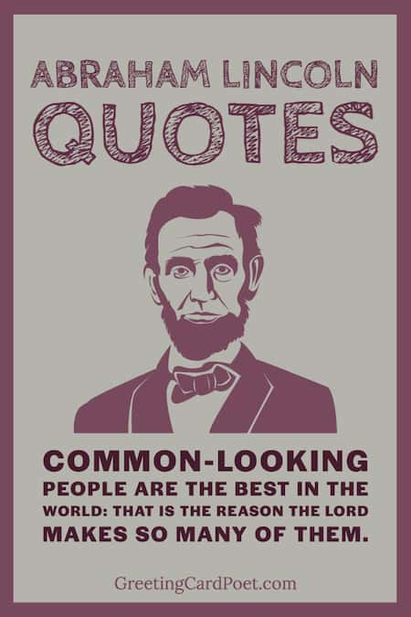 Common-looking people quote by Lincoln