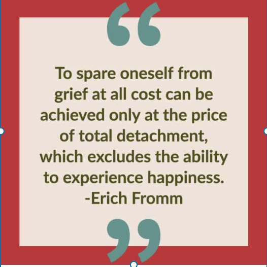 Eric Fromm quote on grief