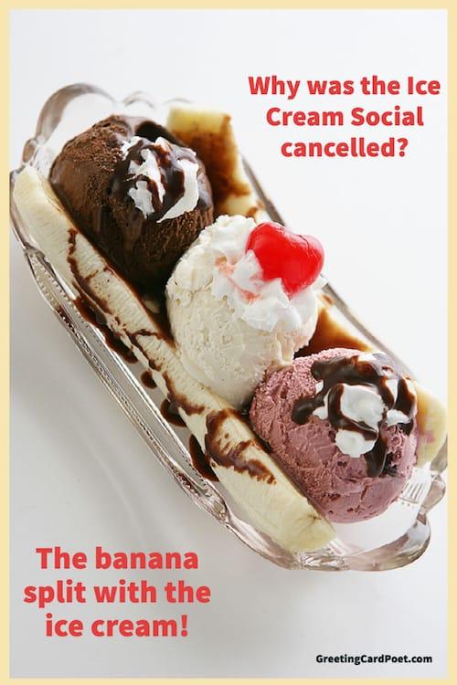 Funny banana split riddle