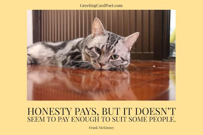 Honesty pays quotation