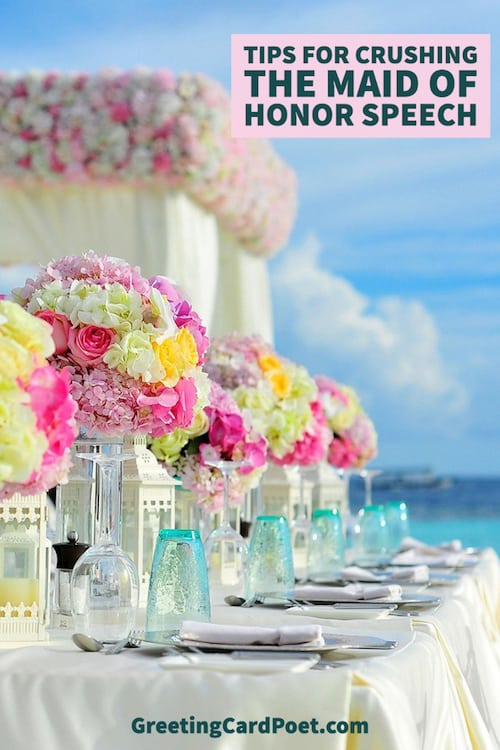 Tips for crushing your maid of honor speech