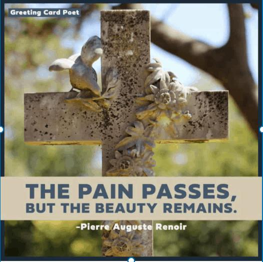 The pain passes