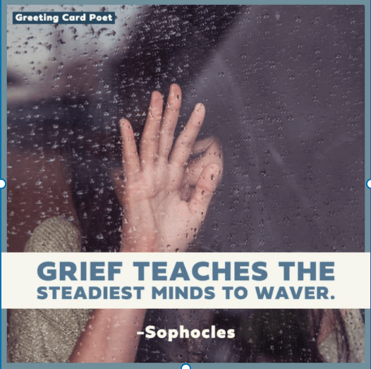 Grief teaches the steadiest minds to waver