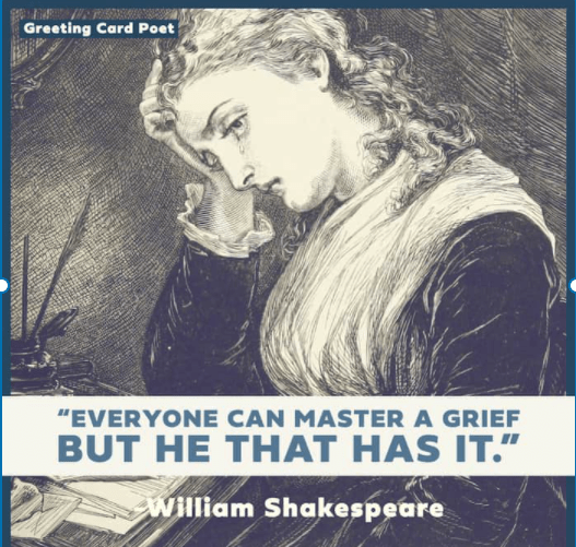 Shakespeare quote on grief