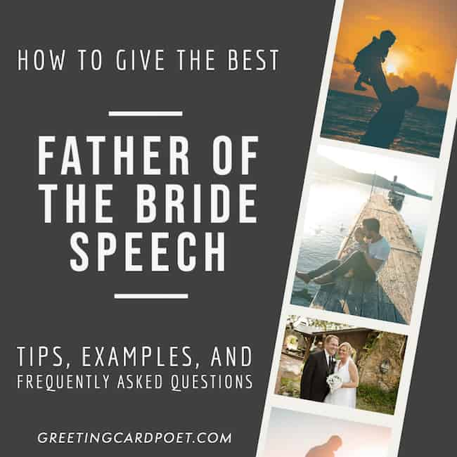 How to give the best father of the bride speech