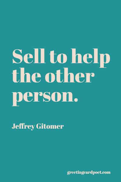 Sell to help quote