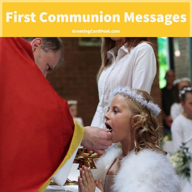 First Communion Messages