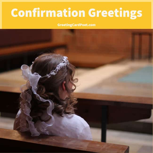 good confirmation greetings