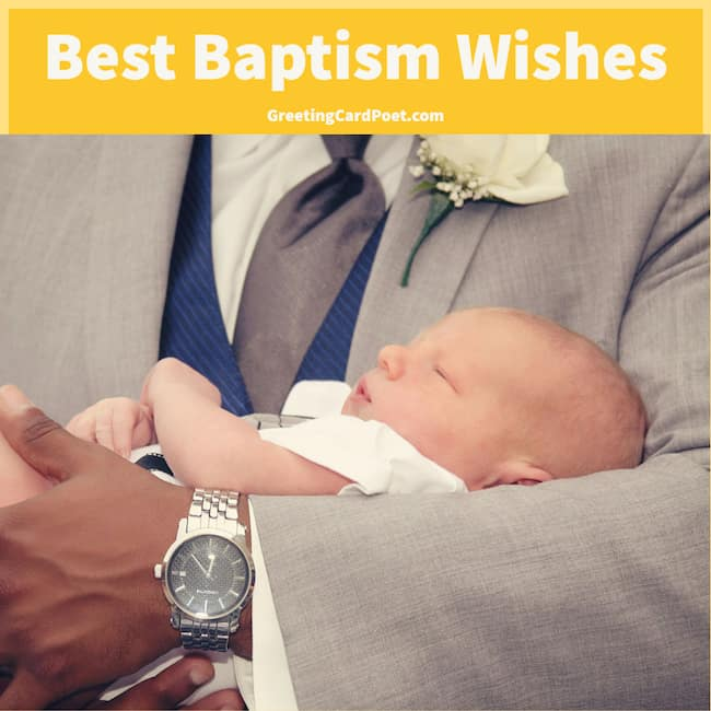 Best Baptism Wishes and Messages